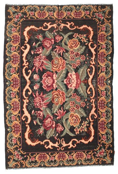 Rose Kelim Moldavia Rug 186X280 Authentic  Oriental Handwoven Dark Brown/Olive Green (Wool, Moldova)