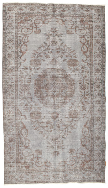 Colored Vintage Rug 154X271 Authentic  Modern Handknotted Light Grey/Dark Grey (Wool, Turkey)