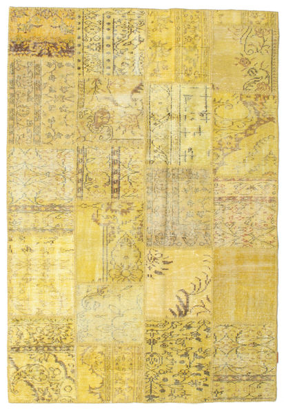 Patchwork Rug 157X230 Authentic  Modern Handknotted Yellow (Wool, Turkey)