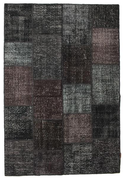 Patchwork Rug 158X230 Authentic  Modern Handknotted Black/Dark Grey (Wool, Turkey)