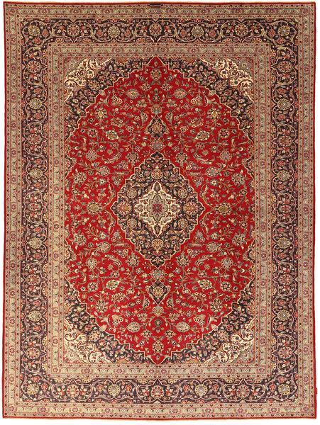 Keshan Rug 301X405 Authentic  Oriental Handknotted Light Brown/Dark Red Large (Wool, Persia/Iran)