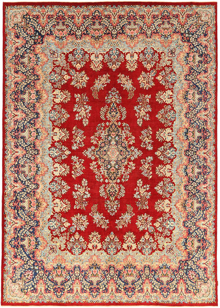 Kerman Patina Rug 294X421 Authentic  Oriental Handknotted Rust Red/Dark Beige Large (Wool, Persia/Iran)