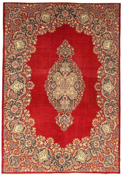 Kerman Patina Matta 269X388 Äkta Orientalisk Handknuten Ljusbrun/Roströd/Mörkröd Stor (Ull, Persien/Iran)