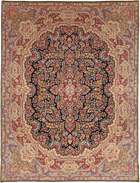 Kerman Sherkat Farsh Rug 297X382 Authentic  Oriental Handknotted Dark Brown/Brown Large (Wool, Persia/Iran)