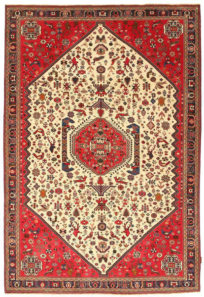 Abadeh Sherkat Farsh Rug 196X301 Authentic  Oriental Handknotted Beige/Light Brown (Wool, Persia/Iran)