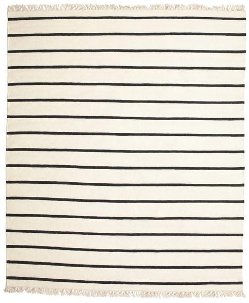 Dorri Stripe - White/Czarny Dywan 250X300 Nowoczesny Tkany Ręcznie Beżowy/Ciemnoszary Duży (Wełna, Indie)