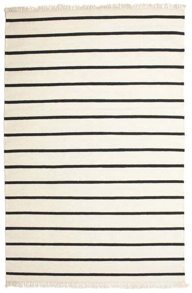 Dorri Stripe - White/Μαύρα Χαλι 200X300 Σύγχρονα Χειροποίητη Ύφανση Μπεζ/Σκούρο Γκρι (Μαλλί, Ινδικά)