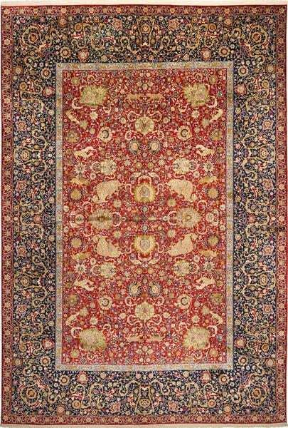Kashmir ren silke figur / bilde teppe MSA1