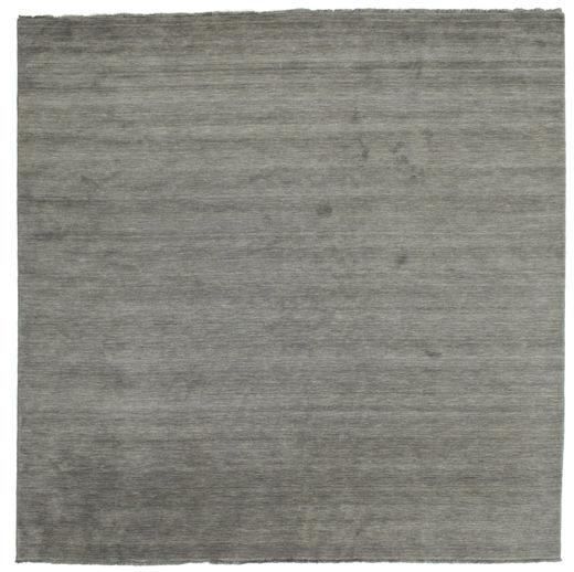 Handloom Fringes - Mørk Grå Teppe 300X300 Moderne Kvadratisk Mørk Grå Stort (Ull, India)