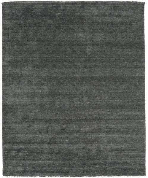 Handloom Fringes - Dark Grey Rug 250X300 Modern Dark Green/Dark Green Large (Wool, India)