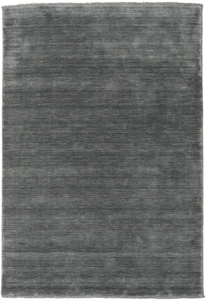Handloom Fringes - Sötétszürke Szőnyeg 160X230 Modern Sötétszürke/Világosszürke (Gyapjú, India)