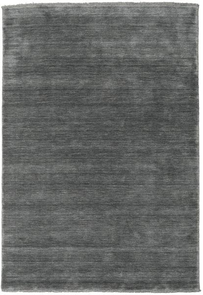 Handloom Fringes - Dunkelgrau Teppich  160X230 Moderner Dunkelgrau/Hellgrau (Wolle, Indien)