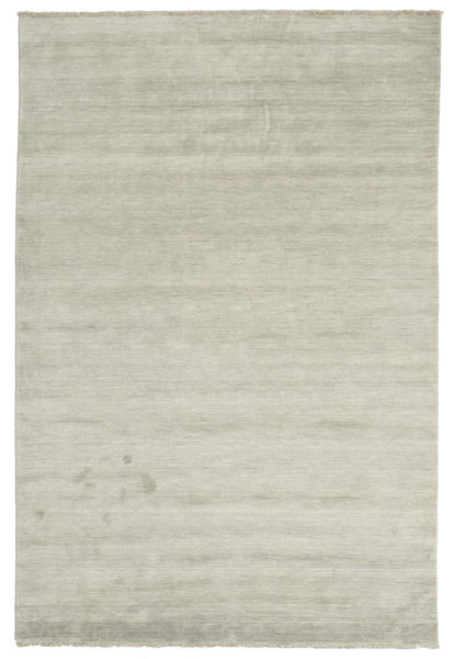 Handloom fringes - Grey / Light Green rug CVD13995
