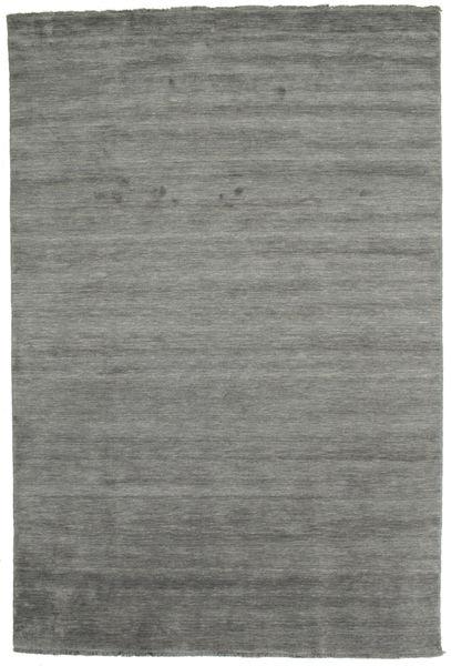 Handloom Fringes - Dark Grey Rug 200X300 Modern Dark Grey/Light Grey (Wool, India)