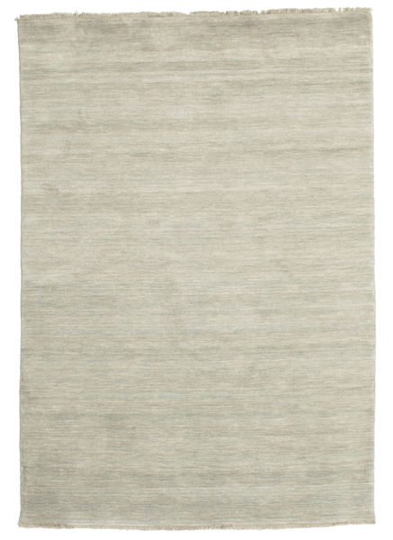 Handloom Fringes - Grey/Light Green Rug 140X200 Modern Light Grey/Dark Beige (Wool, India)