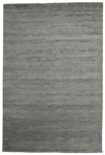 Handloom Fringes - Tummanharmaa Matto 220X320 Moderni Tummanharmaa/Vaaleanharmaa (Villa, Intia)
