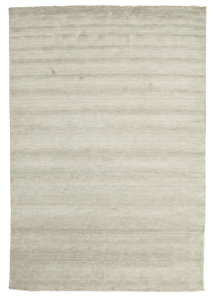 Handloom Fringes - Grey/Light Green Rug 220X320 Modern Light Grey/Dark Beige (Wool, India)