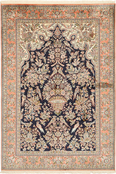 Kashmir pure silk carpet MSA281