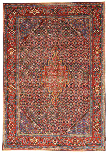 Ardebil Patina Matto 204X292 Itämainen Käsinsolmittu Ruskea/Ruoste (Villa, Persia/Iran)
