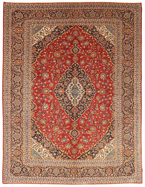 Keshan Patina Matta 295X396 Äkta Orientalisk Handknuten Ljusbrun/Brun Stor (Ull, Persien/Iran)