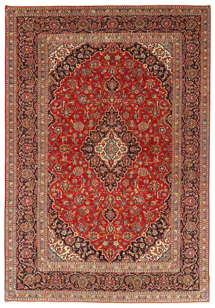 Keshan Patina Rug 247X360 Authentic  Oriental Handknotted Dark Red/Light Brown (Wool, Persia/Iran)