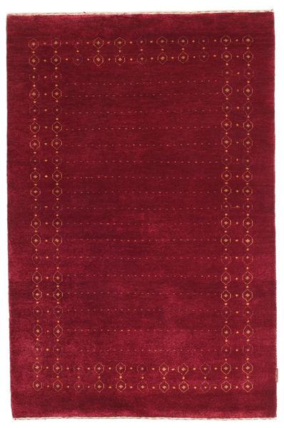 Gabbeh Loribaft Matto 117X178 Moderni Käsinsolmittu Tummanpunainen/Punainen (Villa, Intia)