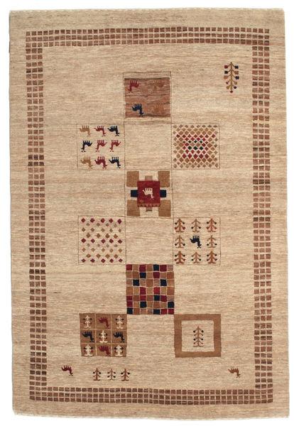 Gabbeh Loribaft Matto 153X227 Moderni Käsinsolmittu Vaaleanruskea/Tummanbeige (Villa, Intia)