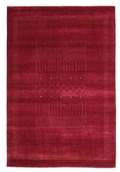 Gabbeh Loribaft Matta 148X222 Äkta Modern Handknuten Röd/Mörkröd (Ull, Indien)