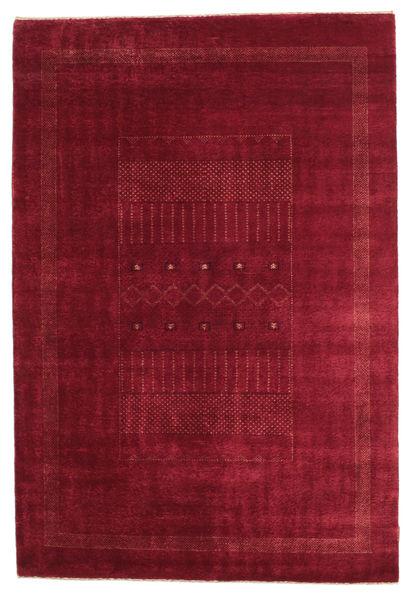 Gabbeh Loribaft Matto 150X224 Moderni Käsinsolmittu Tummanpunainen/Punainen (Villa, Intia)