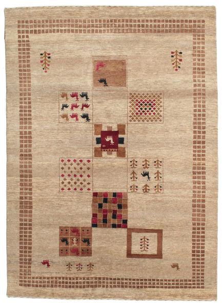 Gabbeh Loribaft Matto 153X213 Moderni Käsinsolmittu Vaaleanruskea/Tummanbeige (Villa, Intia)