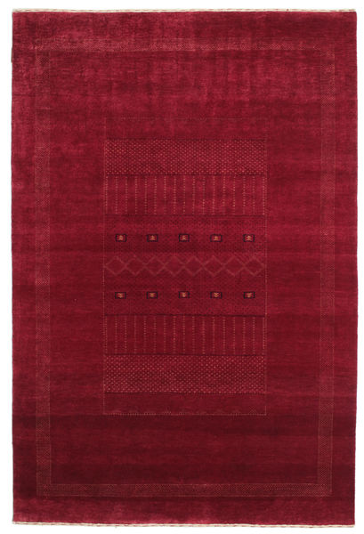Gabbeh Loribaft Rug 149X223 Authentic  Modern Handknotted Dark Red/Crimson Red (Wool, India)