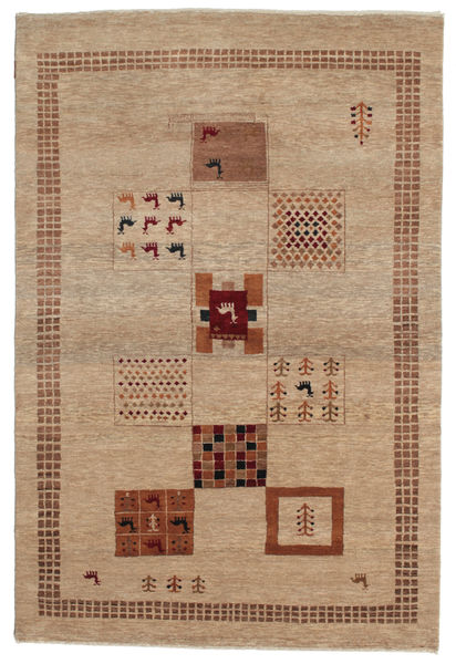 Gabbeh Loribaft Rug 150X224 Authentic  Modern Handknotted Light Brown (Wool, India)