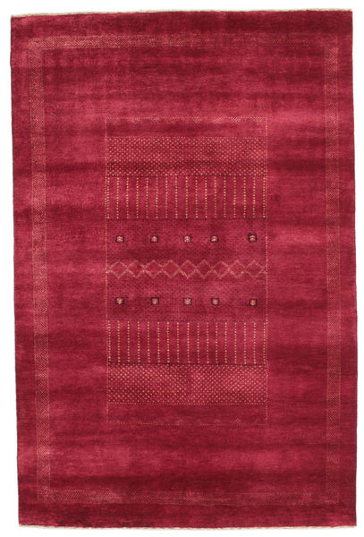 Gabbeh Loribaft Rug 150X228 Authentic  Modern Handknotted Crimson Red (Wool, India)