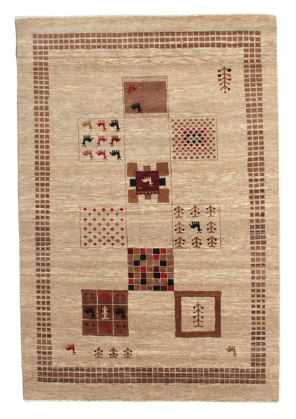 Gabbeh Loribaft Rug 150X222 Authentic  Modern Handknotted Light Brown/Dark Beige (Wool, India)