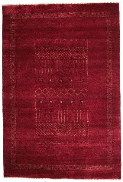 Gabbeh Loribaft Rug 148X220 Authentic  Modern Handknotted Dark Red/Crimson Red (Wool, India)
