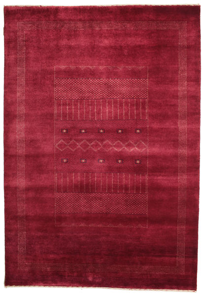 Gabbeh Loribaft Rug 150X216 Authentic  Modern Handknotted Crimson Red/Dark Red (Wool, India)