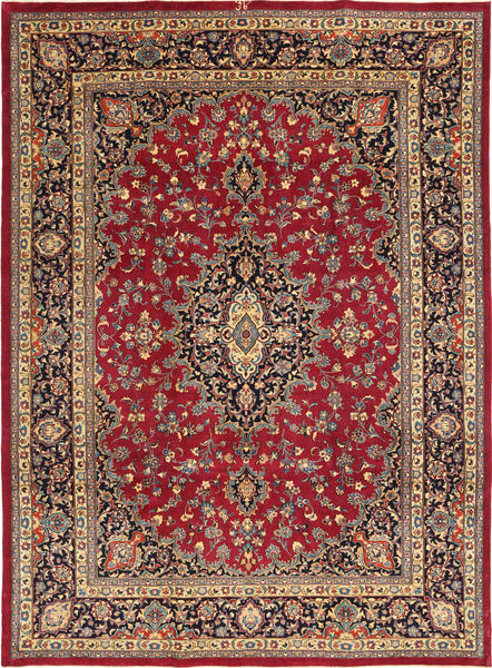 Mashad Patina Signed: Kafi Rug 245X347 Authentic  Oriental Handknotted Brown/Crimson Red (Wool, Persia/Iran)