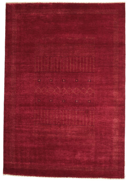 Gabbeh Loribaft Rug 150X216 Authentic  Modern Handknotted Dark Red/Crimson Red (Wool, India)