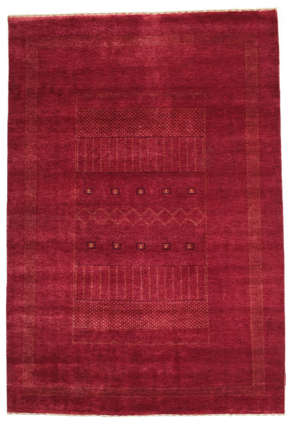Gabbeh Loribaft Rug 148X218 Authentic  Modern Handknotted Crimson Red/Dark Red (Wool, India)
