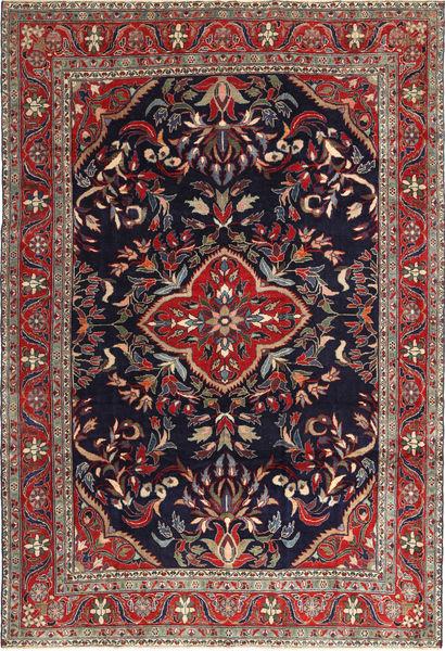 Hamadan Shahrbaf Patina Matta 222X323 Äkta Orientalisk Handknuten Mörklila/Brun (Ull, Persien/Iran)