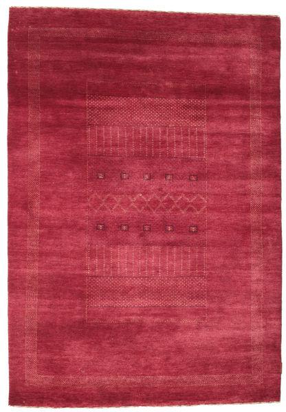 Gabbeh Loribaft Alfombra 150X219 Moderna Hecha A Mano Roja/Óxido/Roja (Lana, India)