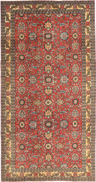 Tabriz Patina Rug 168X318 Authentic  Oriental Handknotted Dark Red/Light Brown (Wool, Persia/Iran)