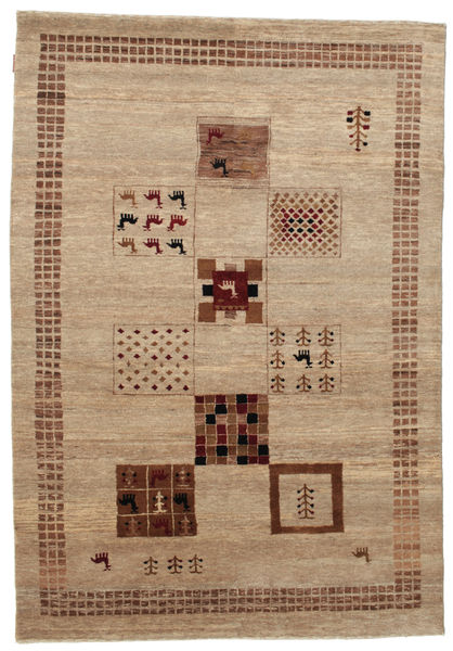 Gabbeh Loribaft Rug 152X219 Authentic  Modern Handknotted Light Brown/Brown (Wool, India)
