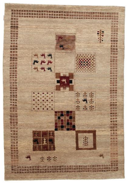 Gabbeh Loribaft Matto 152X219 Moderni Käsinsolmittu Vaaleanruskea/Ruskea (Villa, Intia)