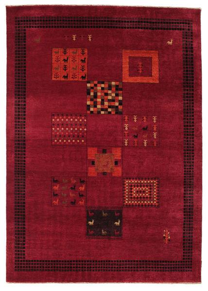 Gabbeh Loribaft Rug 194X277 Authentic  Modern Handknotted Dark Red/Crimson Red (Wool, India)