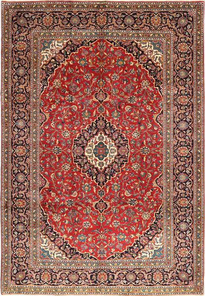 Keshan Matta 243X355 Äkta Orientalisk Handknuten Mörkröd/Roströd (Ull, Persien/Iran)