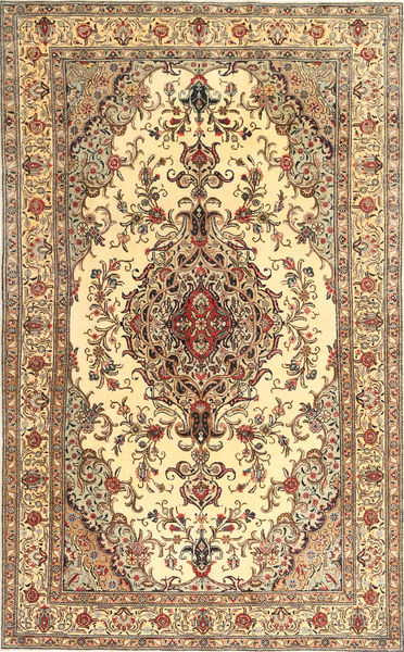Tabriz Patina Rug 205X327 Authentic  Oriental Handknotted Brown/Light Brown (Wool, Persia/Iran)