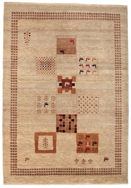 Gabbeh Loribaft Matto 153X220 Moderni Käsinsolmittu Vaaleanruskea/Tummanbeige (Villa, Intia)