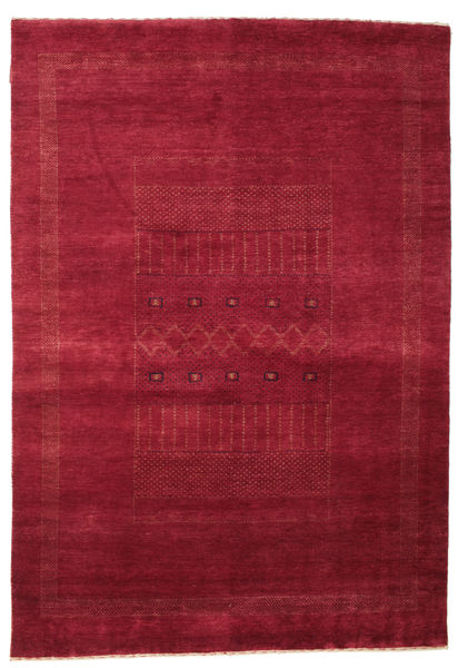 Gabbeh Loribaft Rug 152X220 Authentic  Modern Handknotted Crimson Red/Dark Red (Wool, India)