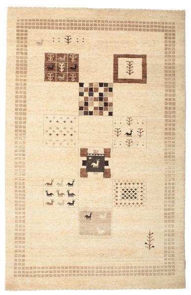 Gabbeh Loribaft Matto 150X231 Moderni Käsinsolmittu Beige/Keltainen/Tummanbeige (Villa, Intia)